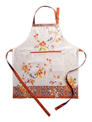 Maison d' Hermine Kelim 100% algodón 1 pieza delantal de cocina con cuello ajustable y bolsillo central oculto con lazos largos para...
