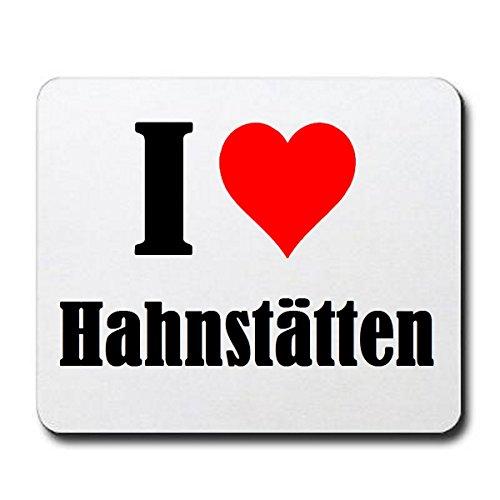 Gaming Mauspad I Love Hahnstätten in Weiss, eine tolle Geschenkidee die von Herzen kommt| Rutschfestes Mousepad | Geschenktipp: Weihnachten Jahrestag Geburtstag Lieblingsmensch