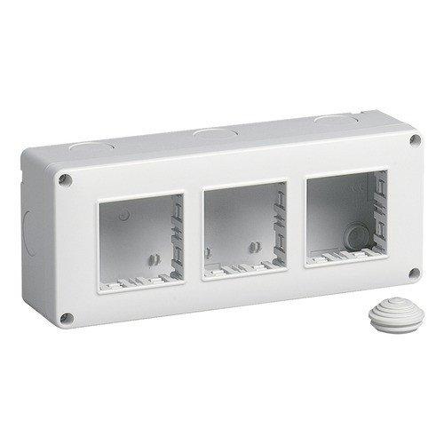 Vimar cajas de superficie - Caja ip40 6 módulo 2x3 serie plana ...