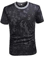 Camouflage Tactical Shirt met korte mouwen Men's Quick Dry Combat T-shirt De militaire T-shirt van Camo Outdoor Wandelen Jacht Shirts
