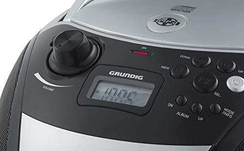 Grundig GRB 3000 BT Tragbare Radio Boombox mit Bluetooth Silber/Schwarz