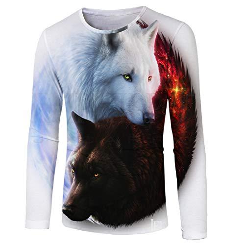 Men Hoodie Men Sweatshirt 3D Printing Trend Casual Fashion Comfortable Cotton Blend Drawstring Loose Men Hoodie New Sports Style Large Size Men Streetwear [White-1] 4XL