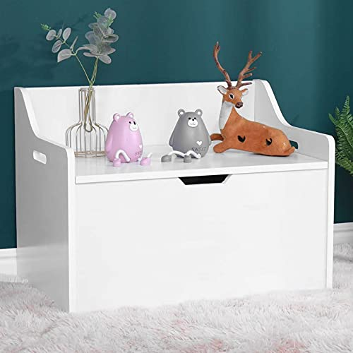 Toy Chest Toy Storage Box Kids' Toy Chests & Boxes Kids Toy Box White Blanket Box Wooden Toy Chest Large Storage Box For Kids Toy Storage Bench White Wooden Ottoman Baby Organiser Storage Boxes