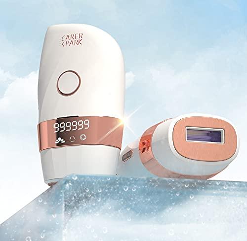 Sistema de depilación láser, Dispositivo de Depilación para Uso Doméstico Indoloro con Flashes Ice-Cool con 2 modos de Flash y 5 Intensidades de luz para Uso en Todo El Cuerpo para Mujeres y Hombres