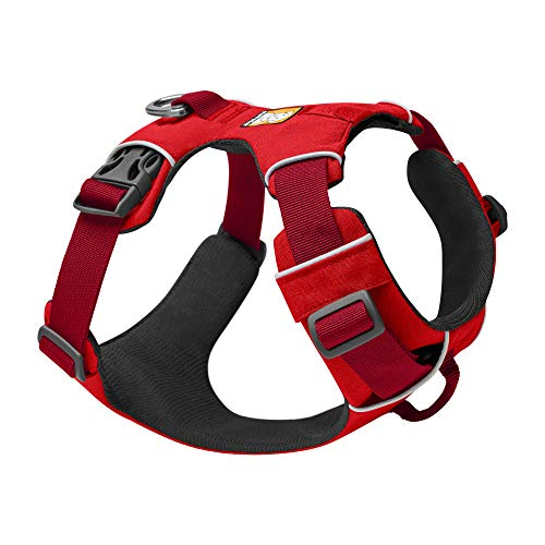 RUFFWEAR, Front Range Dog Harness, Reflective and Padded Harness for Training and Everyday, Red Sumac, X-Small