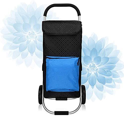 Carrito de compras ligero Trolley plegable de aluminio gran capacidad,Blue
