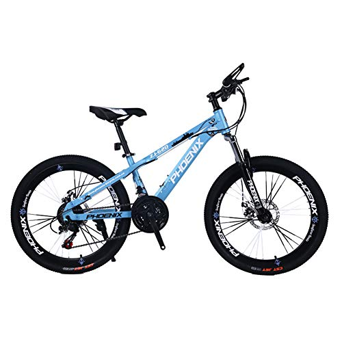 Children's bicycle LLL 24 Inch Variable Speed Mountain Bike 12-17 Years Old Boys and Girls Student Cycling (Color : Blue)