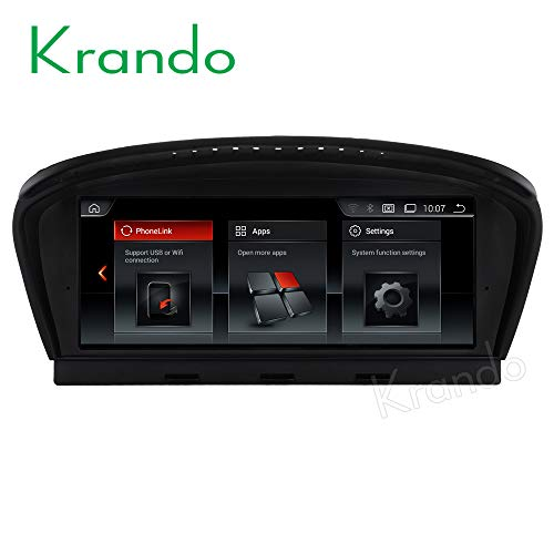 Krando - Radio de coche Android 9.0 de 8,8 pulgadas, DVD con GPS, para BMW 5 Series E60 2005 – 2010 Player
