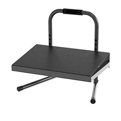 LILINA Desk Accessories Foot Stool Desk Accessories & Workspace Organizers,footrest for Under Desk at Work Black Ergonomic Height Adjustable Standing Foot Rest Relief Platform for Standing Desks