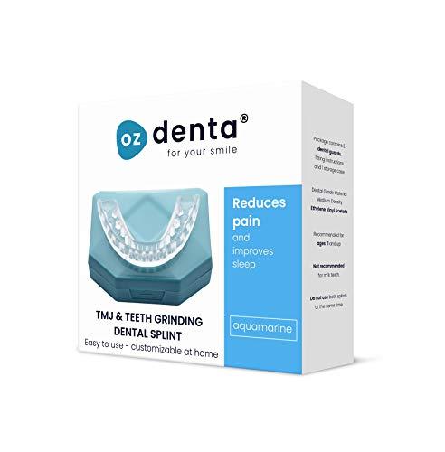 2 x Ozdenta Aquamarine Aufbissschiene Zahnschutz Beim Nächtlichen Zähneknirschen Knirscherschiene Zahnschiene