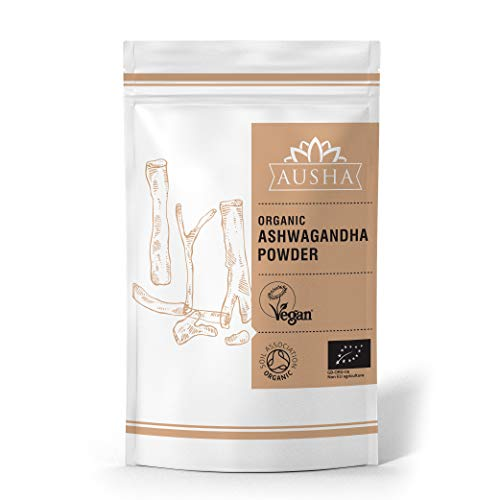 AUSHA Organic Raw Ashwagandha Powder 500g (Fertility, Sleep Aid,Stress & Anxiety Reduction,Energy Increase,Overall Wellness)