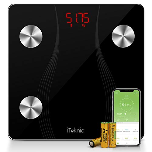 Bilancia Impedenziometrica iTeknic Bilancia Pesa Persona Digitale Smart Bluetooth Diagnostica Misura 13...
