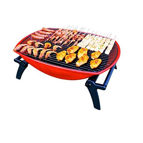 FEANG Faltbarer Holzkohlegrill, tragbarer BBQ-Grillgrill Lightweight Simple Grill für Outdoor-Grill-Liebhaber Travel Park Beach Wild