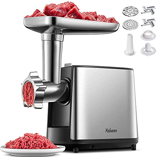 Electric Meat Grinder, Multifunctional Heavy Duty Meat...