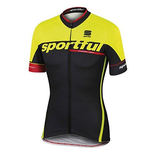 Maillot Sportful SC Team Negro-Amarillo 2016