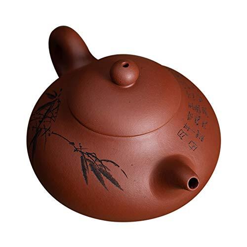 LTLWSH Chinesische Zisha Teekannen, Orientalische Handgemachte Purpurrote Lehm Teekanne, Lila Ton Teekanne Für Eine Person, Für Geschenk Und Haushalt, 250Ml
