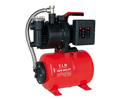 T.I.P. HWW 6000 EPF - Hauswasserwerk mit intelligenter Automatik - 6.000 l/h, schwarz / rot