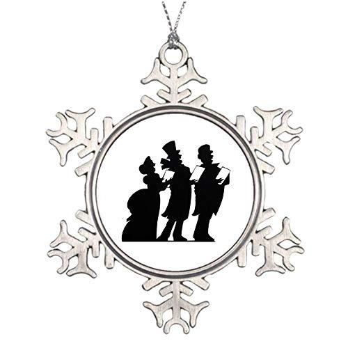Yilooom Victorian Carolers Winter Christmas Christmas Snowflake Ornaments Christmas Tree Decorations Metal Keepsake