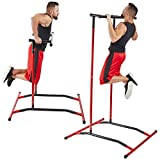 GoBeast Pull Up Bar Free Standing Dip Station – Portable Power Tower Home Gym Equipment With 3...