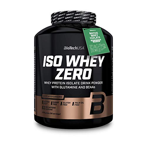 BioTechUSA Iso Whey ZERO, Lactose, Gluten, Sugar FREE, Premium Whey Protein Isolate, 2270g, Caffé Latte