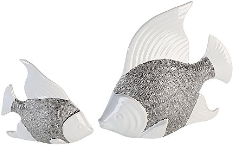 Casablancoa Pescado Prime blancoo Plata Cerámica H 215cm Juego de 2B 235cm
