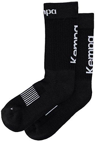 Kempa - Calze da Uomo, Uomo, Logo Classic, Nero/Bianco, FR : chaussettes : 43-46 (Taille Fabricant : 41-45)