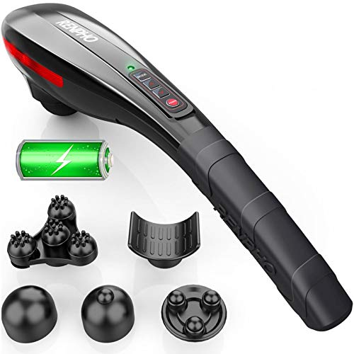 Back Massager, RENPHO Handheld Body Massager, Rechargeable Infrared Massagers for Neck and Back, Deep Tissue Muscle Massager for Shoulder, Leg, Foot, Portable, Home & Office