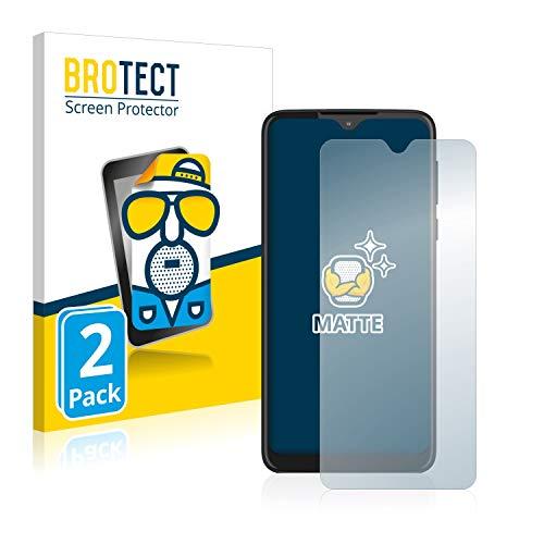 BROTECT 2X Entspiegelungs-Schutzfolie kompatibel mit Motorola Moto One Macro Bildschirmschutz-Folie Matt, Anti-Reflex, Anti-Fingerprint