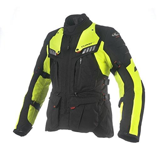 Clover Crossover-3 Motorradjacke Airbag Kompatibel, Schwarz/Neongelb, L