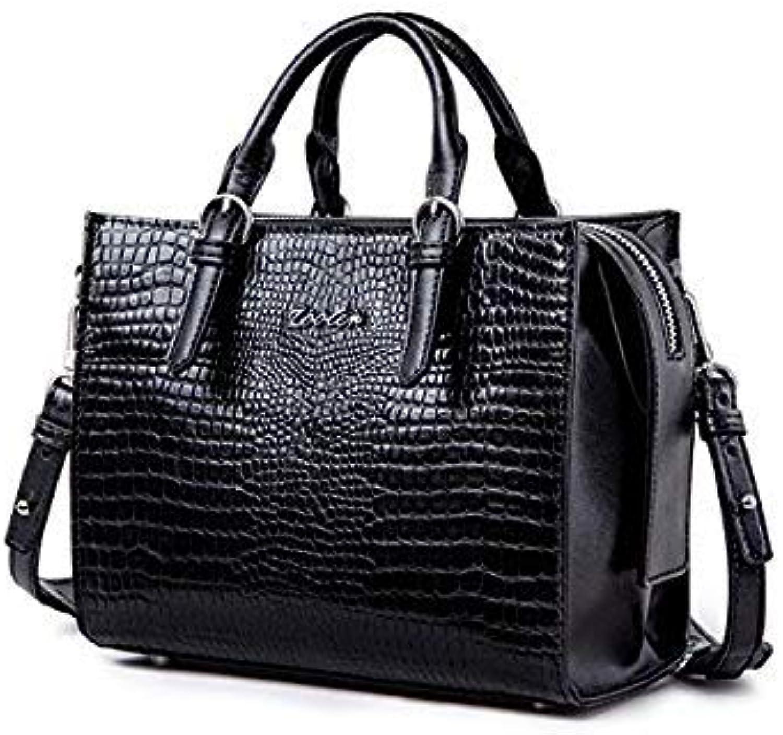 Bloomerang New and Big Sale ZOOLER Brand Genuine Leather Bag Casual Handbags Shoulder Bags Stylish Cowhide Women Bag Luxury Brand  C158 color Black