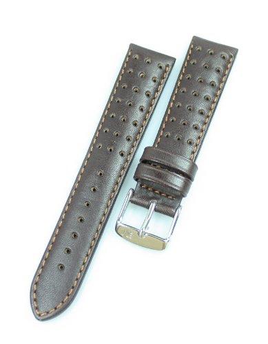 Morellato Uhrenband Rugby Vitello Water Resist U3459-237 Leder Dunkelbraun Bandanstoss 20 mm