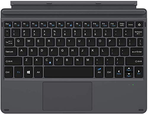 """MoKo Bluetooth Tastiera (Layout Inglese) Compatibile con Surface Go 2 2020 / Surface Go 2018 10"""", Ultra Sottile Type Cover con Trackpad, Batteria Litio Integrato - Nero"""