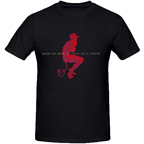GJDEKFGEJH David Lee Roth A Little Aint Enough Graphic T Shirts for Men Crew Neck
