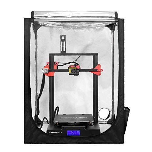Creality Tente d'imprimante 3D ignifuge et résistante à la poussière pour Ender 5/5 pro/5 plus/10S PRO/CR-X à température constante Housse de protection pour salle de rangement 750 x 700 x 900 mm