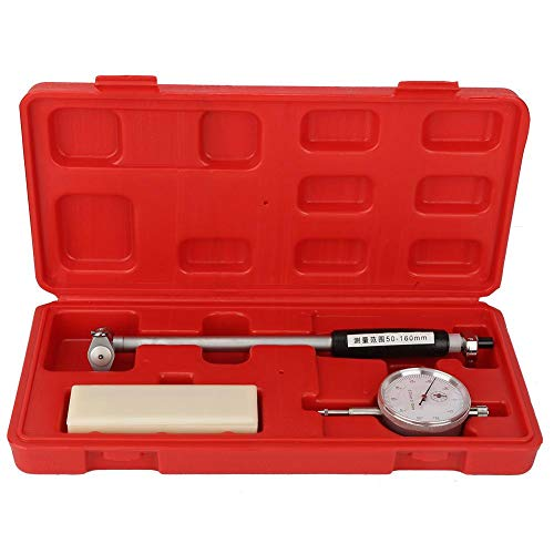 Dial Bore Gauge, Messuhr Set 50-160mm Dial Bore Gauge Innenzylinder Bohrungslehre Set Zylinder Tool Kit 0.01mm Graduierungen,mit viel Zubehör, hoher Genauigkeit