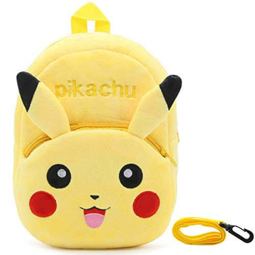 Pikachu Rucksack Kinder - YUESEN 3D-Kinder-Rucksack mit Pikachu Gelb Kindergartenrucksack, Cartoon Tier-Rucksäcke Schultasche Gelb Pikachu Geschenke für Kinder Ideal für Schule Reisen