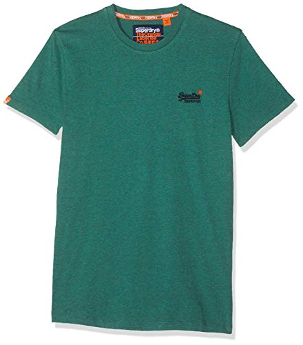 Superdry Orange Label Vintage Embroidery S/s tee Camiseta, Verde (Woodland Green Grit B3m), S para Hombre