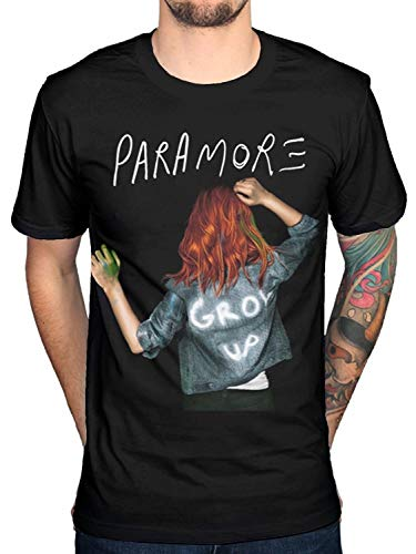 Custom Funny Mens T Shirt Paramore Grow up tee T-Shirt Black Short Sleeve Summer Men's T-Shirts