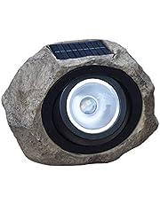 Energía Solar Inducción Fotoeléctrica Piedra Simulada Patio Al Aire Libre Césped Destacar Luz Blanca Cálida Se Puede Ajustar Impermeable Luz Led Resina/gris/Paridad
