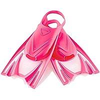 Aqua Speed - Frog Aletas Cortas para niños   Unisex   Niñas   Niños   Aletas de Entrenamiento   Entrenamiento de natación   Aletas Cortas   Aletas de Buceo, Color:Pink, Tamaño:25-29 (S)