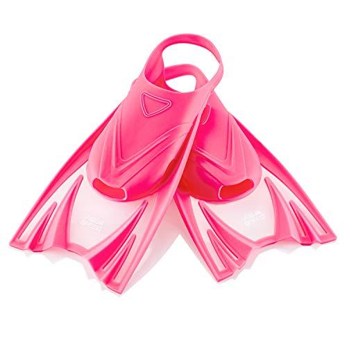 Aqua Speed Kurze Schwimmflossen für Kinder Mädchen I Gummiflossen I Kurzflossen Schwimmtraining I Training Flossen rosa I Snorkel Fins I Schwimmen I Swimming I Pink, Gr. 30-34 (M) I Frog