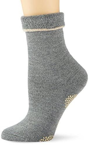 ESPRIT Damen Cosy Homepads 1 W HP Hausschuh-Socken, 5 DEN, Grau (Mid Grey Melange 3530), 35-38 (UK 2.5-5 Ι US 5-7.5) (2er Pack)