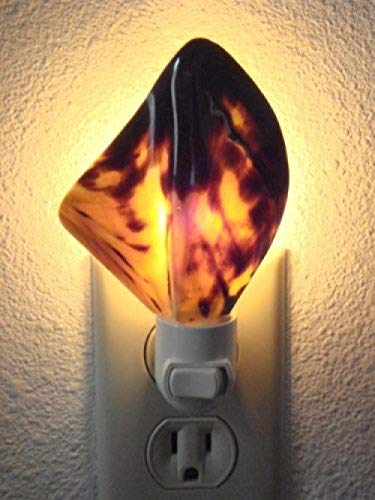 Gepolijste bruine lippen schelp Shell Night Light Bathroom