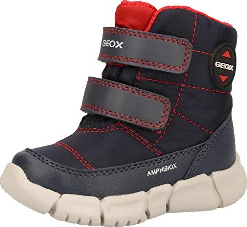 Geox B Flexyper Boy B Abx, Bota de Nieve Bebé-Niños, Azul (Navy/Red), 22 EU