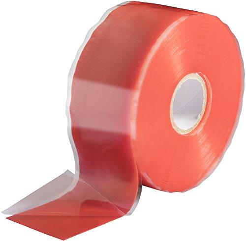 Poppstar 1x 11m selbstverschweißendes Silikonband, Silikon Tape Reparaturband, Isolierband und Dichtungsband (Wasser, Luft), 38mm breit, rot