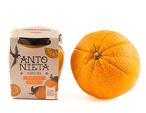 Mermelada PREMIADA INTERNACIONALMENTE EN INGLATERRA Y BRUSSELAS Naranja Amarga 230g | Mermelada Gourmet 100% Fruta - Sin Azúcares Añadidos - Hecho en España | Conservas Antonieta