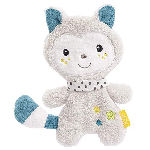 FEHN 057218 Knister-Katze / Activity-Rascheltier mit spannenden Strukturen zum Greifen, Lauschen, Spielen & Geräusche erzeugen, perfekter Begleiter für Babys und Kleinkinder