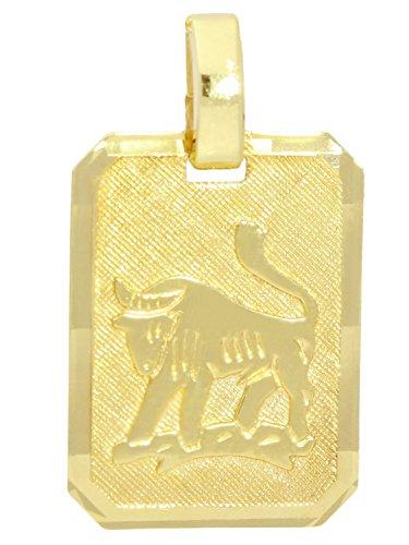 MyGold Sternzeichen Anhänger Stier (Ohne Kette) Gelbgold 333 Gold (8 Karat) Matt Glanz 21mm x 12mm Tierkreiszeichen Horoskop Kettenanhänger Goldanhänger Geschenk Gaudino A-04400-G301-Sti