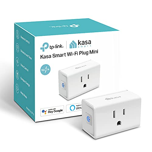 Kasa Smart Plug Ultra Mini 15A, Smart Home Wi-Fi Outlet Works with Alexa, Google Home & IFTTT, No Hub Required, UL Certified, 2.4G WiFi Only, 1-Pack(EP10), White