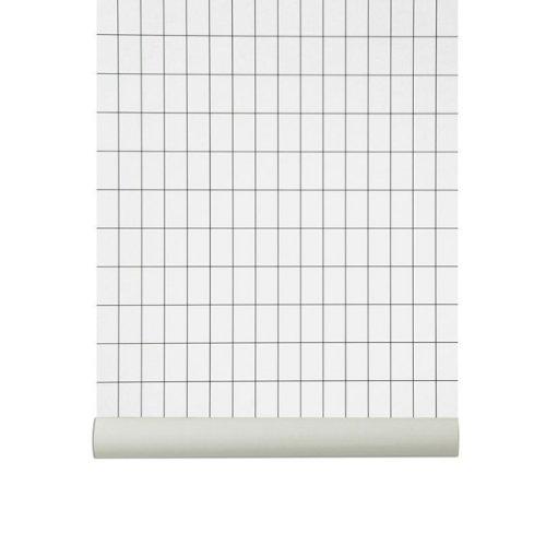 Ferm Living Grid Wallpaper - Black/White